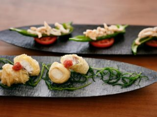 ササフネ・平七寸・角八寸 Sasafune・Flat seven-inch dish・Angle eight-inch dish